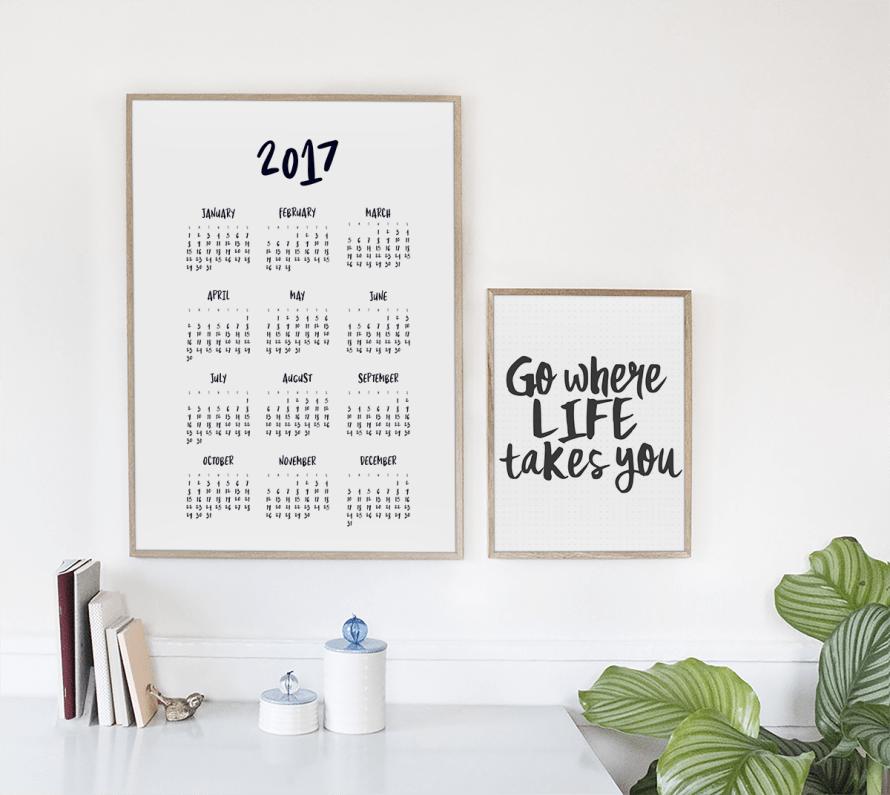I Try DIY | 2017 Calendar