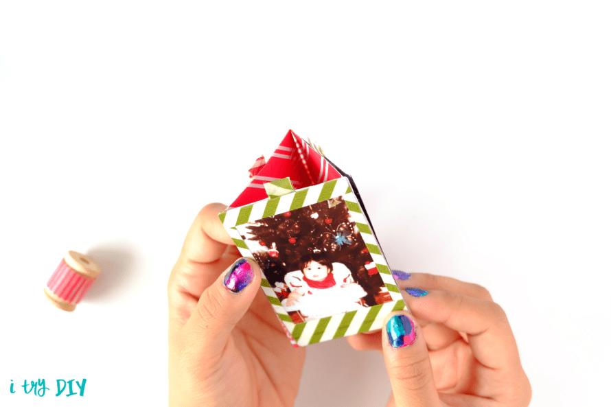 I Try DIY   Instax Christmas Ornament