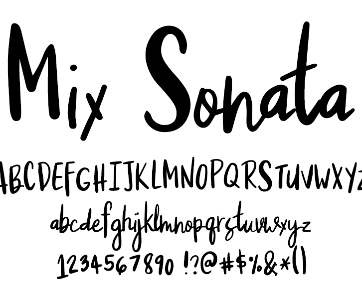 Fonts by Mikko Sumulong - Mix Sonata