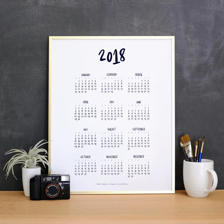 I Try DIY | 2018 Calendar