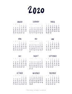 I Try DIY | 2020 Calendar