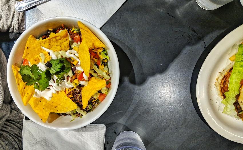 New York vegan - Champs Diner - Taco Bowl
