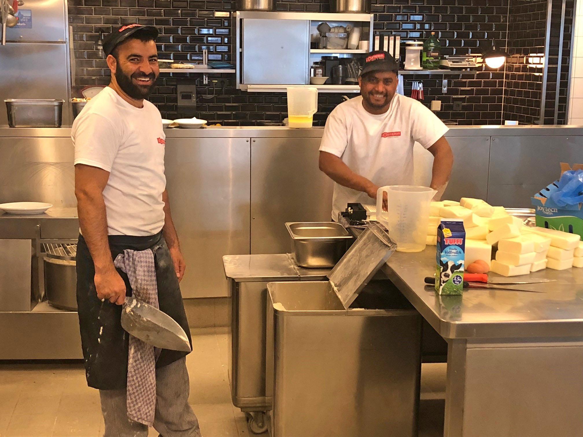 Vom Flüchtling zum Pizzabäcker