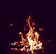 Thanksgiving bonfire