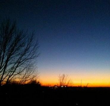 Thanksgiving eve sunset