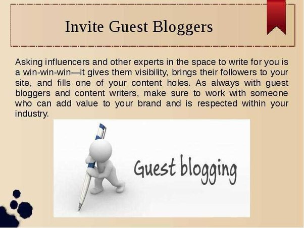 Request others to guest blog posts on your website