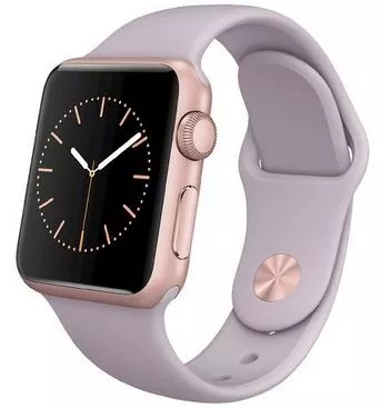 Apple® - Apple® Watch Sport 38mm Rose Gold Aluminum Case with Lavender Sport Band