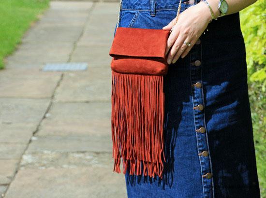denim skirt, style, fashion, day trip, longleat