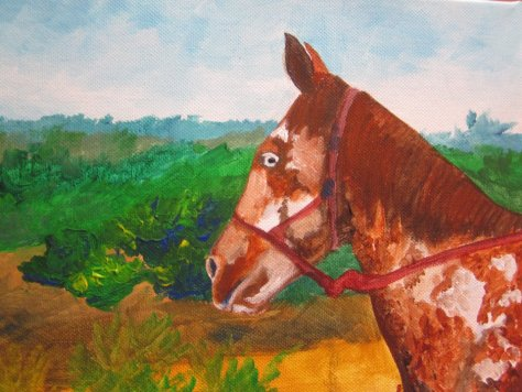bad horse painting