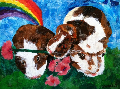 Guinea-Pig-Art-Paper-Collage-Paining