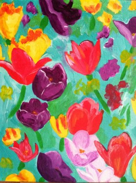 flower painting by Lillian Connelly