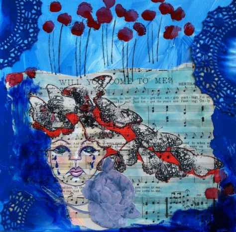 Painting: when songs make you blue