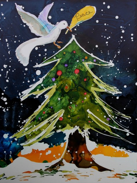 2013 Holiday Painting: Peace Dove