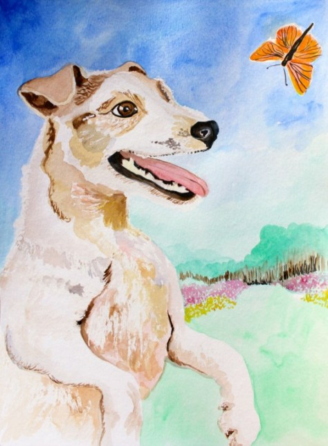 Jack Russell Terrier Watercolor Painting by Lillian Connelly (Day 1 of the 30 paintings in 30 days challenge)