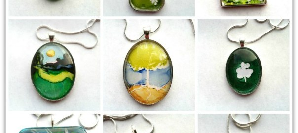 St. Patrick's Day Art Pendants