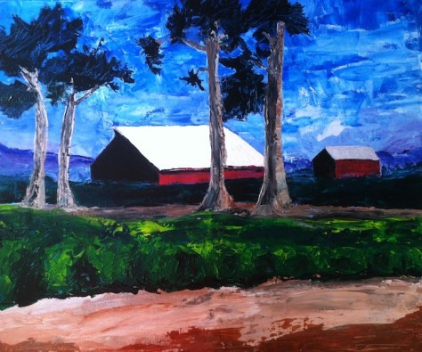 Red Barn Outside of Castroville
