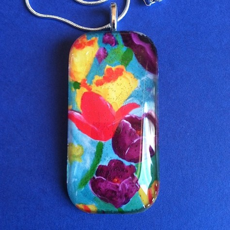 Tulip Art Pendant by Lillian Connelly