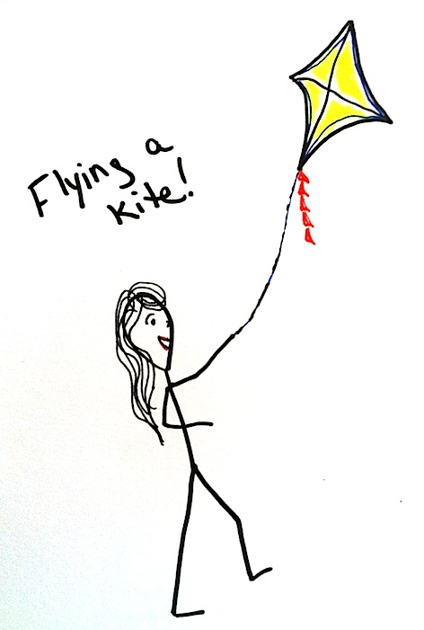 Stickman Drawing Challenge Day 12: Flying A Kite