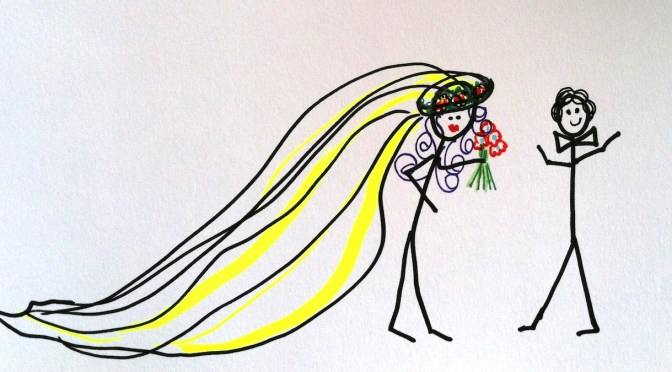 Stickman Drawing Challenge Day 12: Getting Married