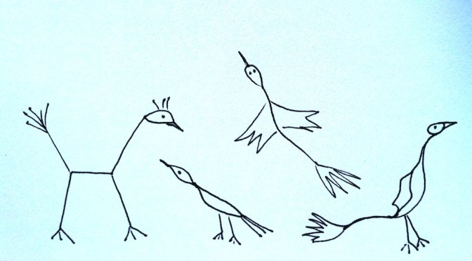 Stickman Drawing Challenge Day 21: Bird Watching