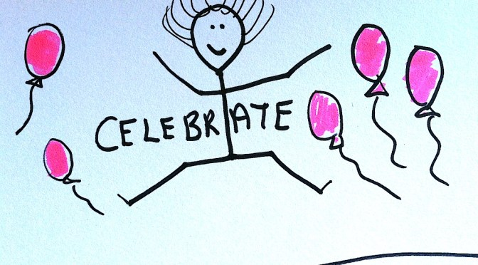 Stickman Drawing Challenge Day 29: Celebrating