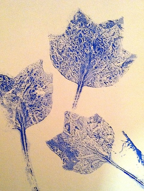 Leaf prints for mixed media art by Lillian Connelly