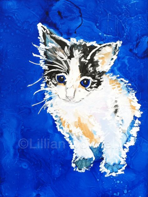 Kitten Day 28 of 30 Paintings In 30 Days