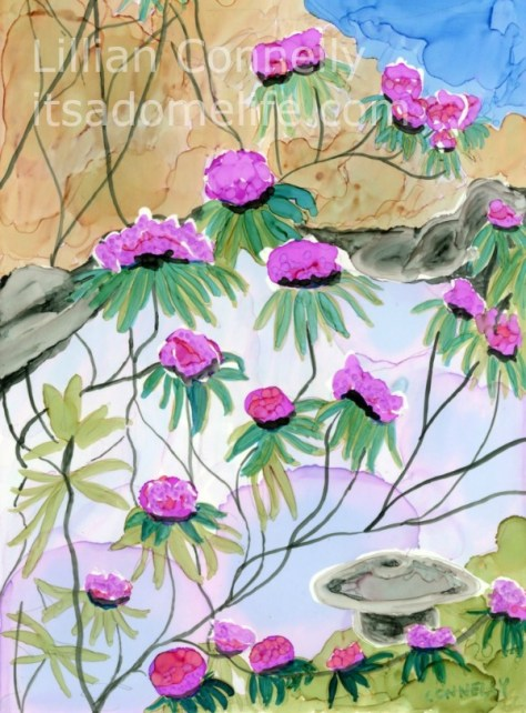 A Vistit To A Tea garden Day 23 of 30 Paintings In 30 Days
