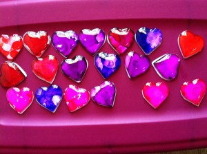 Making Heart jewelry!