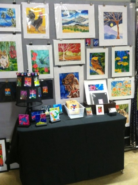 2015 New Mexico Arts and Crafts Fair Booth Set-Up