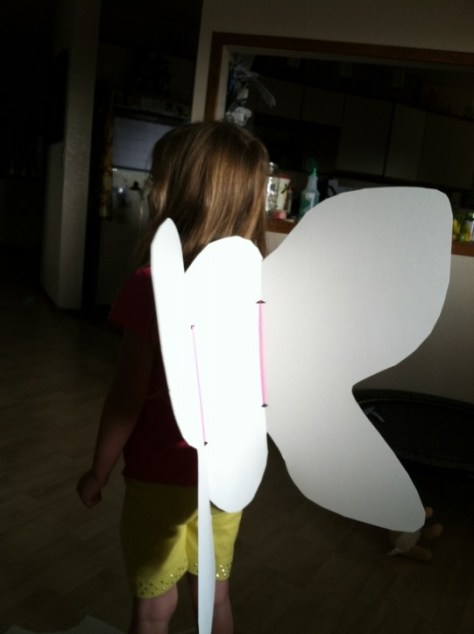 Kids DIY Butterfly Wings