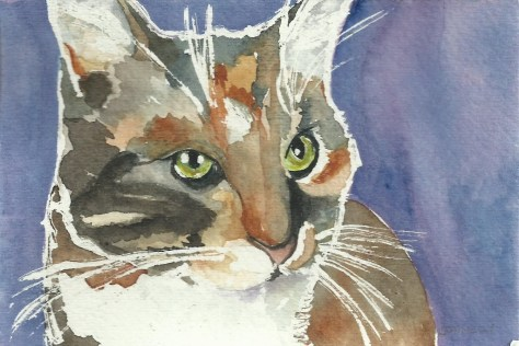 Cats Painted In Watercolor Day 6 September 2016