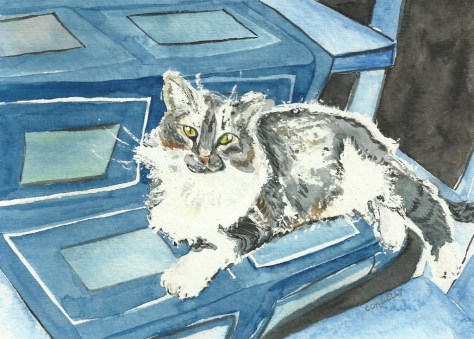 Cats Painted In Watercolor Day 26.