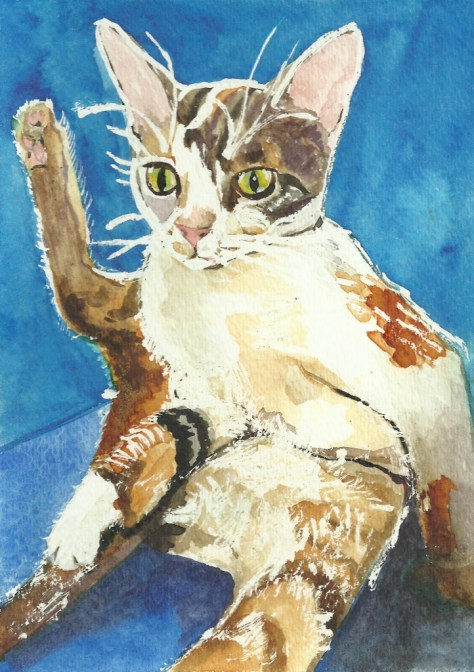 Cats Painted In Watercolor Day 24 and 25
