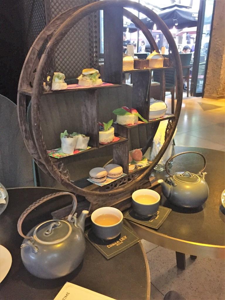 Circular plating structure at High tea in Xian Tian Di
