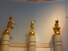 Gold Statues in the Lobby of Casting.