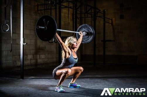 AMRAP Girl weightlifting