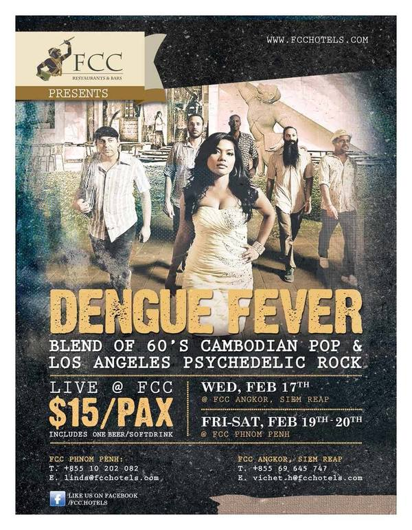 Cambodian Tour Confirmed For Dengue Fever Next Month