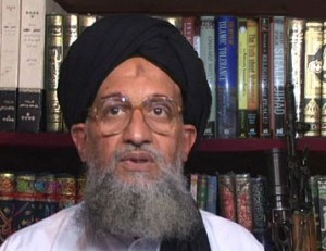 Note the bruise and the scar on the forehead of Ayman al-Zawahiri, co-founder with Osama bin Laden of  al-Qaeda and now its leader. This is what fear of hellfire will do to your forehead if you are a fervent Muslim and routinely bang your head on the ground in prayer.