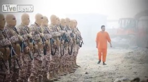 ISIS allowed the victim to observe damage he had done dropping bombs as a way of acknowledging his guilt and that he was deserving of the death that was about to be given to him. ISIS film editing turned him into an actor in his own snuff film.