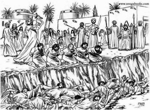 MASSACRE OF THE QURAYZA JEWS. Muhammad had them beheaded for siding with his enemies against him and for refusing to accept him as their prophet. According to the literature, anywhere from 400 to 900 men and boys were beheaded. At a rate of one per minute it would have taken from 7 to 15 hours to kill them all.Muhammad's first cousins Ali -- the future conqueror of Persia -- and Zubayr did most of the beheading.