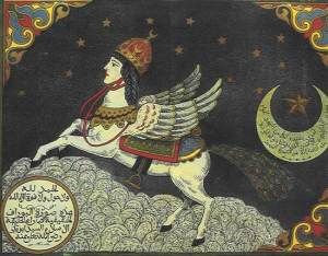 Buraq on a day off. Either that or she left Muhammad behind.