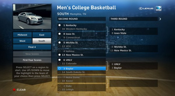 The MEN'S COLLEGE BASKETBALL App from DIRECTV