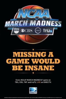NCAA MArch Madness Poster 2 for Bars & Restaurants from DIRECTV