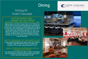 Com2000 Welcome Screen Dining - TV for Hotels - Its All About Satellites - Authorized DIRECTV Hospitality Solutions Dealer - DIRECTV for Hotels