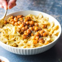 Creamy Cajun Pasta with Seasoned Chickpeas