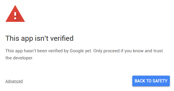 google app script verify