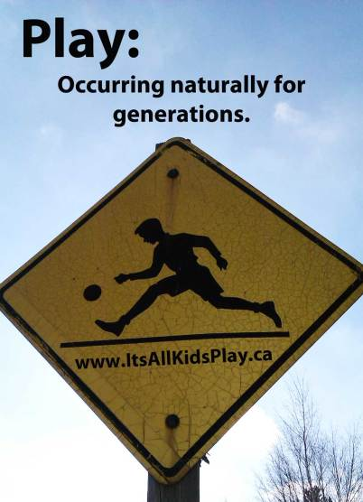 Play: Occurring naturally for generations. Playground sign from 1950s.