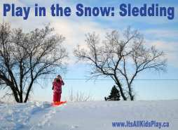 Play in the Snow: Sledding