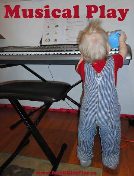 Musical Free Play Fun for Kids - toddler and piano